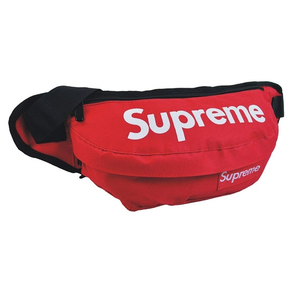 later official site wholesale Red Supreme Fanny Pack Waist Bag